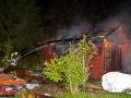 Baucontainer aufgebrochen und Gartenlaube angesteckt auf Wohnbaugebiet Hebebrandtstraße Foto: Dominick Waldeck