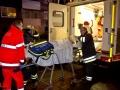 Eine Schwerveltzte Person nach einem ausgedehntem Zimmerbrand in STeilshoop