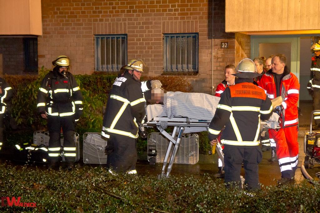 Schwerverletzter nach Zimmerbrand in Steilshoop