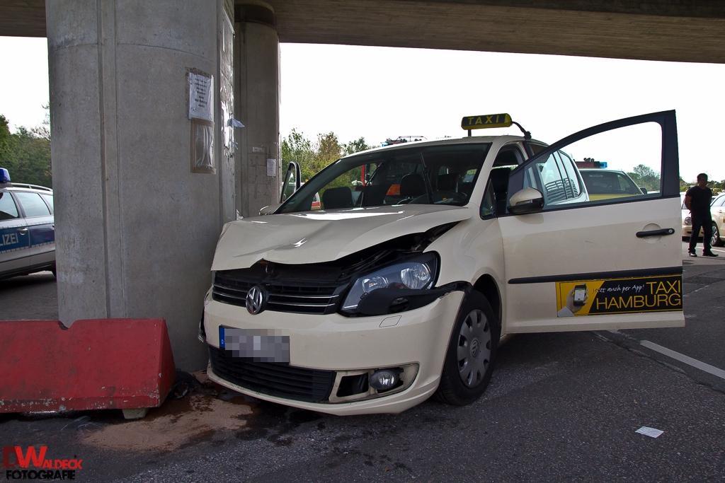 Taxi Unfall am Flughafen