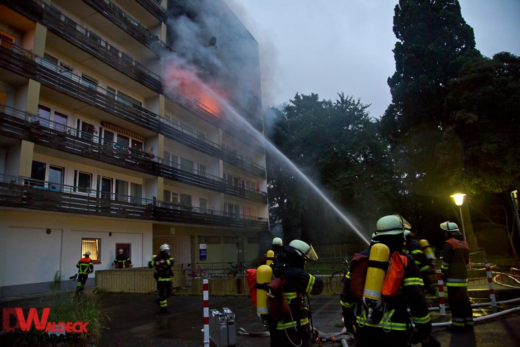 12.08.2016 - 1 Toter nach Wohnungsbrand in Hochhaus