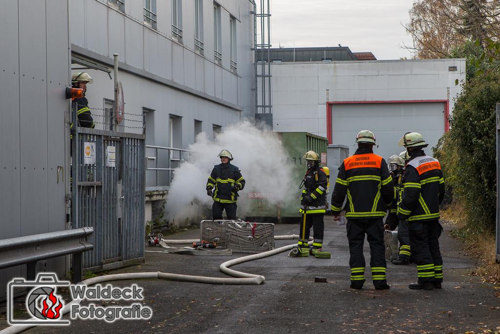 Hamburg-Bramfeld 14.11.2016 ca 13 Uhr Feuer bei Coca-Cola Hamburg