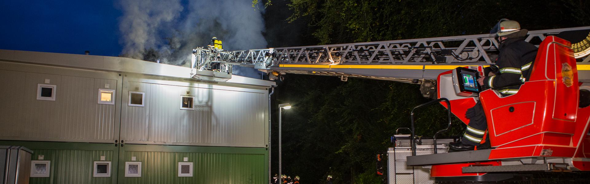 30.09.2017 – Feuer in Klein Borsteler Flüchtlingsunterkunft