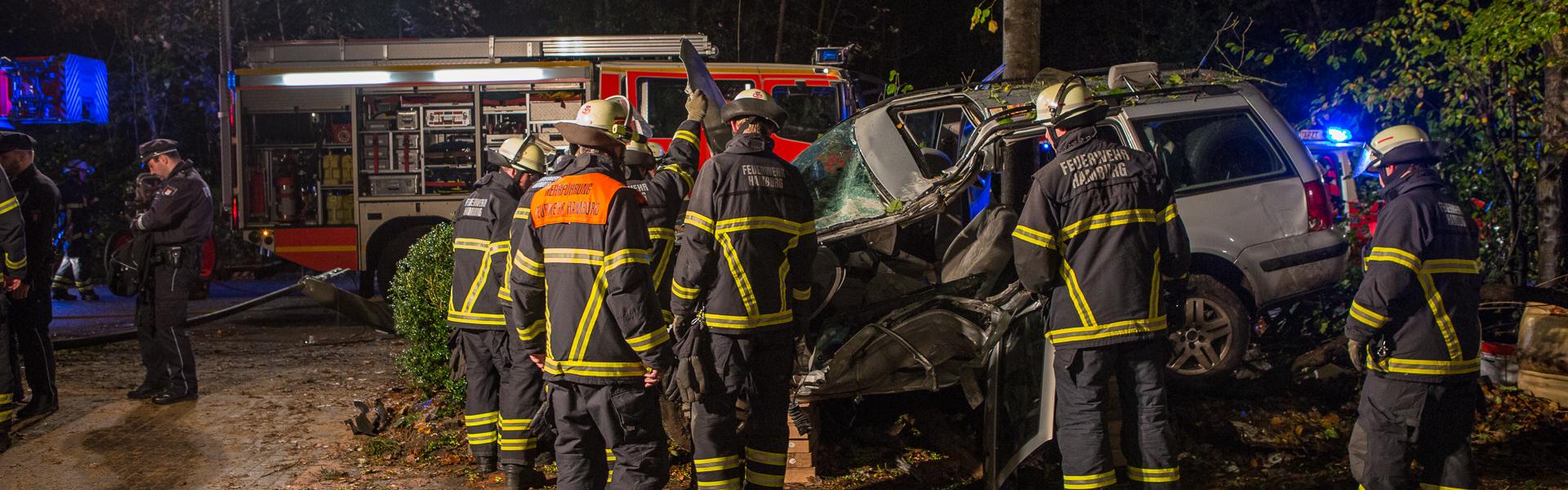 22.10.2017 – Schwerer Unfall auf der Bergstedter Chaussee
