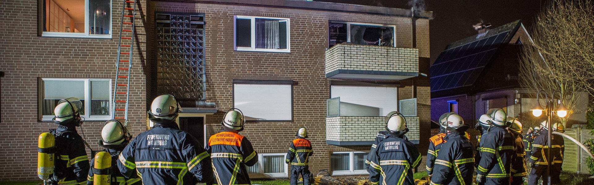 13.01.2018 – Wohnungsbrand sorgt für Großeinsatz in Rahlstedt