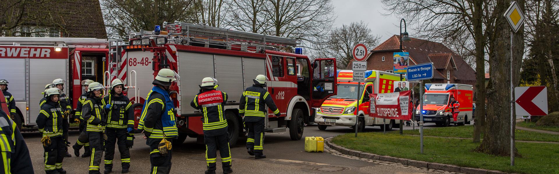 14.04.2018 – Verkehrsunfall in nasser Kurve in Bünningstedt