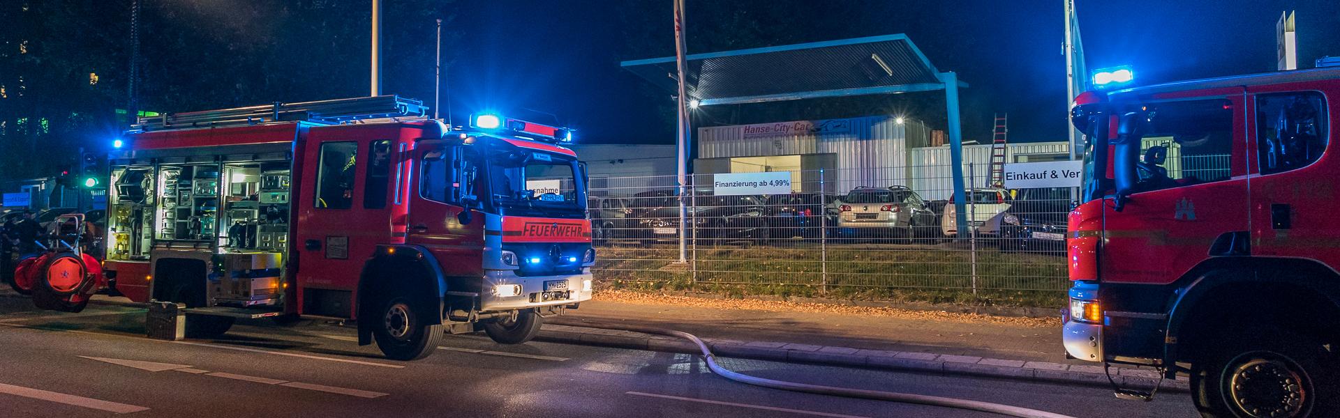 17.10.2018 – Werkstattbrand durch Dachdeckerarbeiten