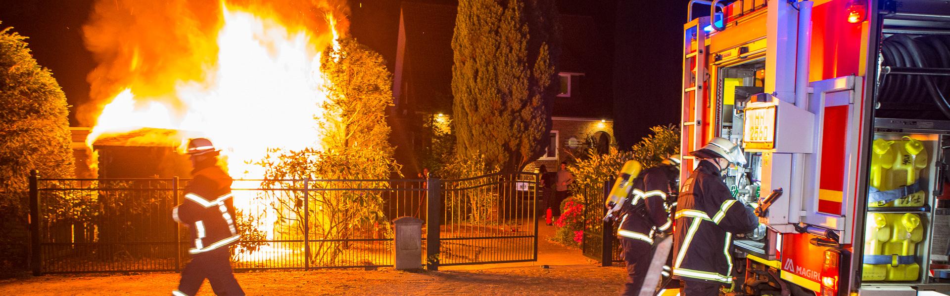 12.05.2019 – Gartenschuppenbrand reißt Bewohner aus dem Schlaf