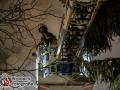 Am späten Donnerstagabend geriet aus bislang unbekannter Ursache ein Reetdachhaus an der Langenhorner Chaussee in Brand. Das Feuer fraß sich schnell durch die Dachkonstruktion und binnen kürzester Zeit stand das gesamte Gebäude in Vollbrand. Die Feuerwehr erhöhte auf die 2. Alarmstufe und war mit ca. 60 Mann vor Ort. Die Flammen schlugen meterhoch in den Nachthimmel und die Rauchsäule ging bis zum Flughafen. Das Feuer wurde mit mehrere Rohren im Innen- udn Außenangriff gelöscht. Foto: Dominick Waldeck