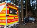 Tödlicher Verkehrsunfall in Aspe bei Stade - PKW gegen Baum Foto: Dominick Waldeck