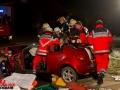 Verkehrsunfall mit eingeklemmter Person Jersbek Foto: Dominick Waldeck
