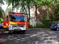 Mülleimerbrand greift auf Carport und Pkw über