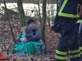 Frau bricht in Eis ein um Hund zu retten - Alsterlauf Foto: Dominick Waldeck